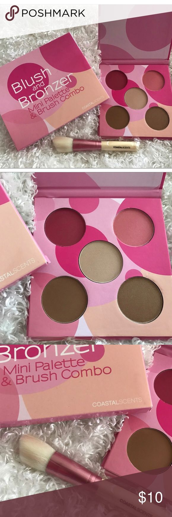 Coastal Scents Blush and Bronzer Palette Mini Palette & Brush Combo 🔸Brand new in box 🔸Bundle and save up to 25% off Coastal Scents Makeup Bronzer