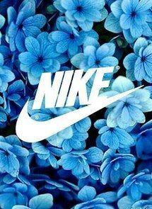 flowers, nike, blue, background, wallpaper
