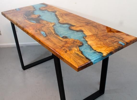 River Table Dining Tables Dining Table Table Resin Table