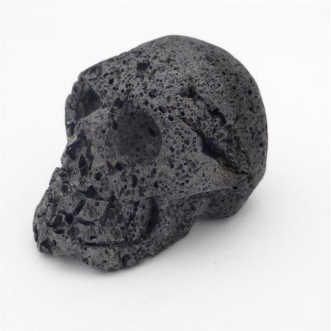 Skull Carving in Lava Stone   Crystal Heart Melbourne Australia since 1986