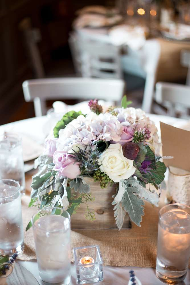 Floral arrangement at a wedding party! See more party planning ideas at CatchMyParty.com!