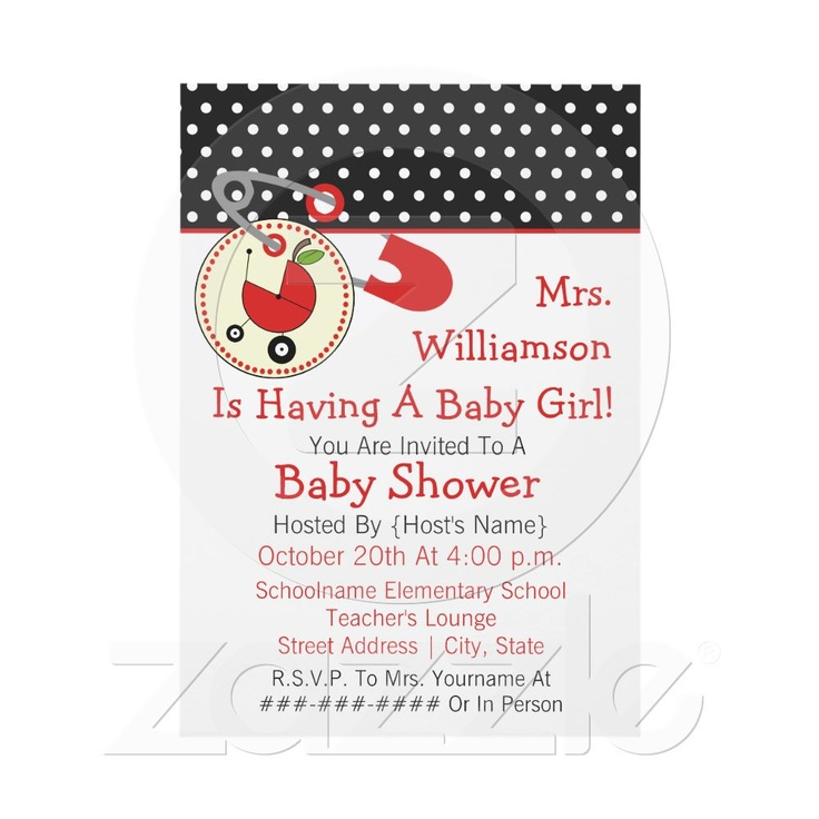 want to throw a baby shower for another teacher baby shower
