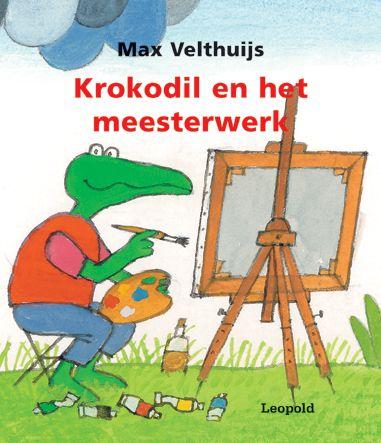 Krokodil en het meesterwerk - Max Velthuijs.  Olifant kan niet kiezen uit alle prachtige schilderijen die Krokodil heeft gemaakt: een zonsondergang, een schip op zee, een Hollands molentje…te veel om op te noemen. Daarom maakt Krokodil een heel speciaal schilderij waarop Olifant kan zien wat hij maar wil. Een echt meesterwerk!