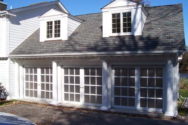 One of the best and most creative uses for a french door for French garage doors