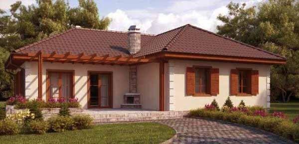 casas sencillas con jardines