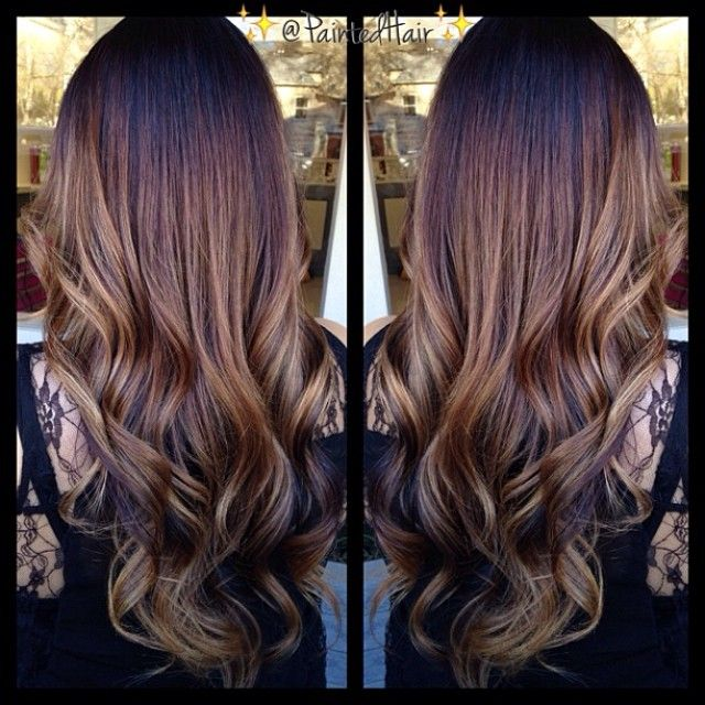Painted hair brunette ombre baylage never too busy to be beautif - Ombre hair brune ...