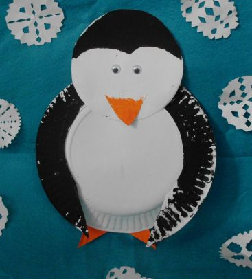 Picture of Paper Plate Penguin Craft Project for kids