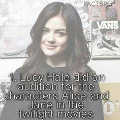 Omg she would have made a great Alice or Jane although the people that played those parts were really good.