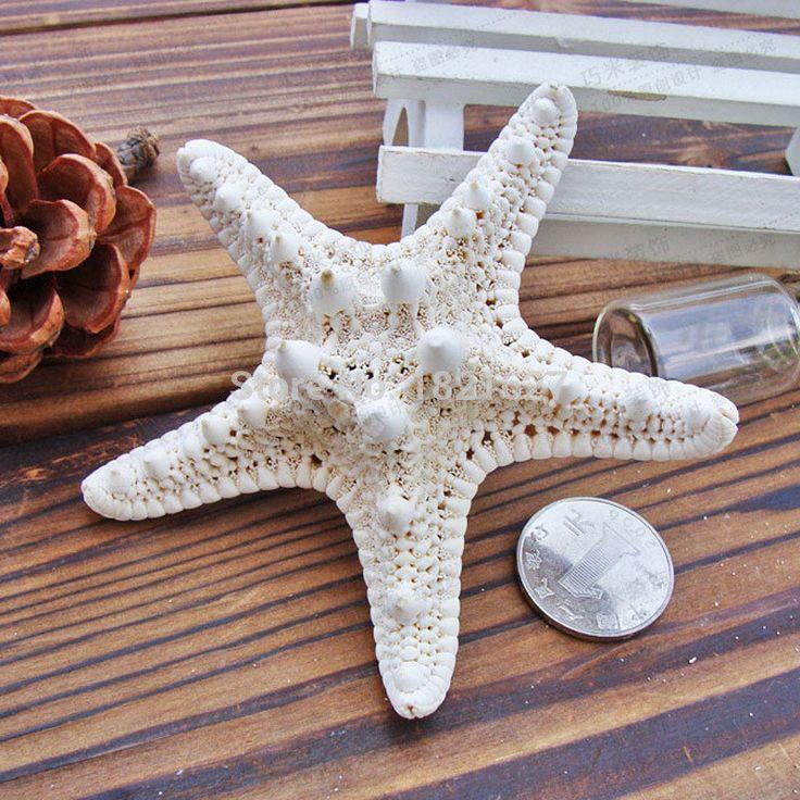 10pcs 4-7cm white natural Air Dried starfish sea star Beach Themed Wedding Table Decoration