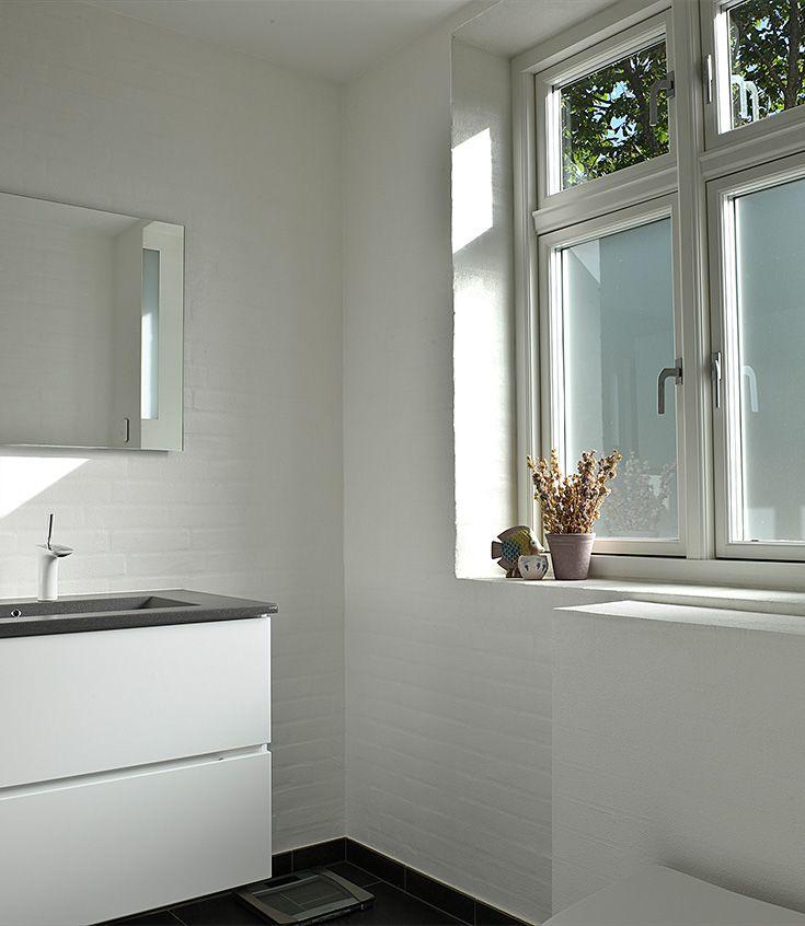 Lyst badeværelse i Nordby på Fanø.