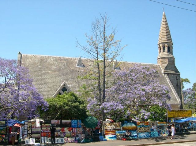 Balmain Markets Every Saturday Grounds of St Andrew's Congregational Church down the far end of Darling Street