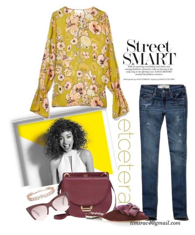 """""""Etcetera Fall 2017: Tuscany Boho Blouse"""" by timirac on Polyvore featuring Paul Mitchell, Abercrombie & Fitch, Vince Camuto, Oscar de la Renta, Rochas and Fendi"""