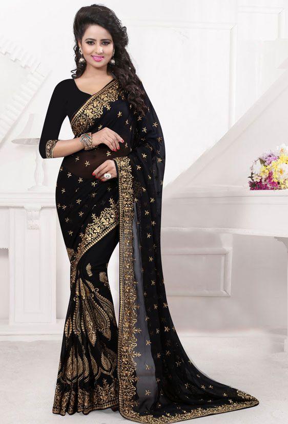 Fabulous Black Saree