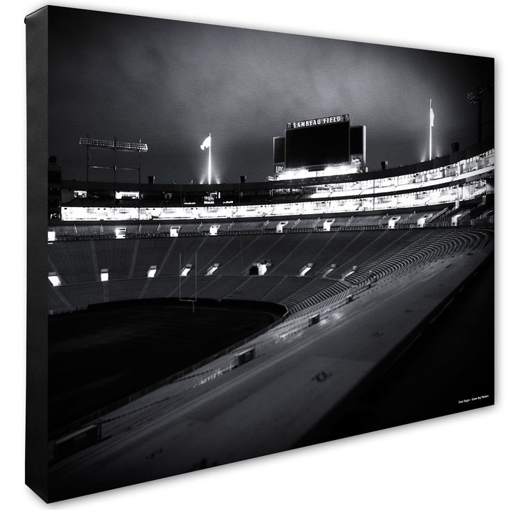 Lambeau Field at Night Canvas at the Packers Pro Shop