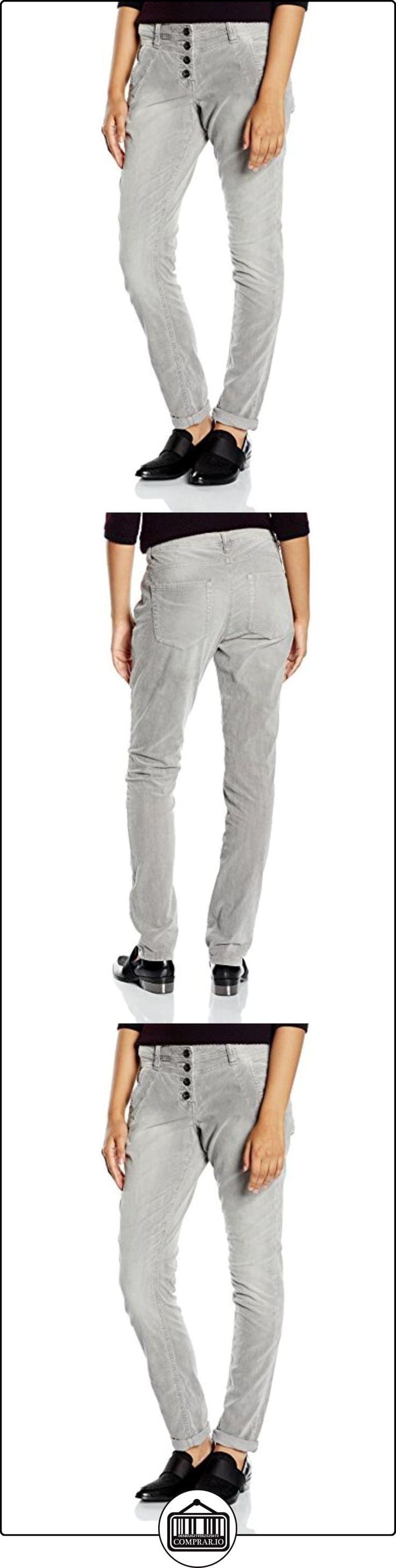 TOM TAILOR velvet relaxed Tapered/509 - Vaqueros para mujer, color gris ( smooth grey 2645 ), talla W46 / L34  ✿ Vaqueros ✿