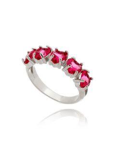 meia aliança rubi cravejada com zirconias em formato de coração semi joias online