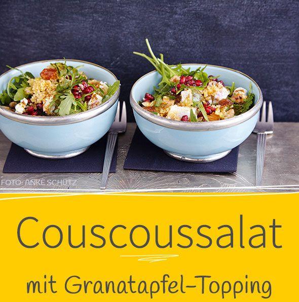 Unser Rezept für diesen leckeren Salat mit knackigen Nüssen, süßen Rosinen und frischer Minze verbreitet arabisches Flair und passt gut auf ein Buffet oder auch zum Mitnehmen ins Büro.