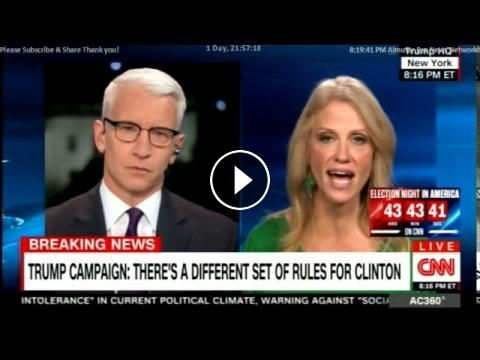 Kellyanne Conway, Trump's Campaign Manager on FBI Clears Hillary Clinton - Again. #ElectionDay: 2 Days to Election. US Presidential…