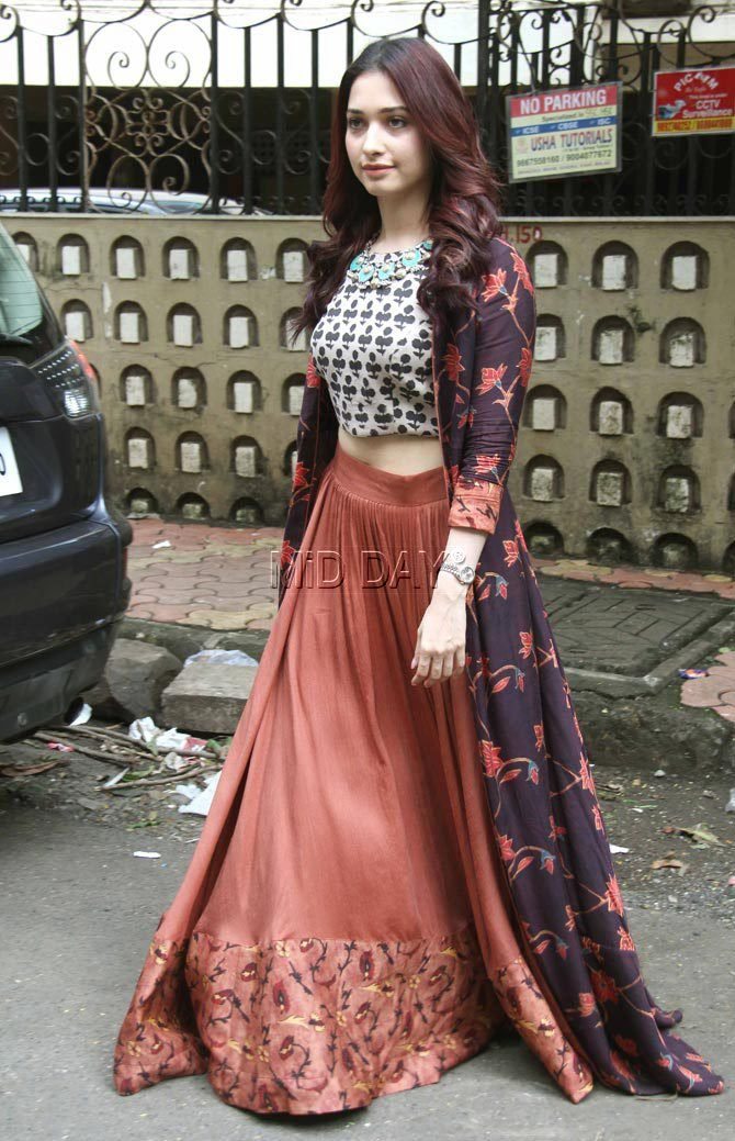 'Baahubali: The Conclusion' actress Tamannaah Bhatia was snapped in Bandra, Mumbai. A look in pictures...
