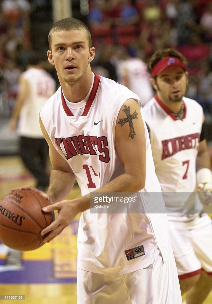 Justin Timberlake during Top stars join *NSYNC for the 3rd annual Challenge for the Children basketball charity event, featuring celebrity team challenges and half-time performances. All proceeds go to children's programs and charities. in Las Vegas, Nevada, United States.