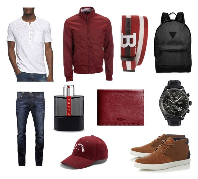 """RED"" by ricardo-rodriguez-hernandez on Polyvore featuring Aéropostale, Lacoste, Calvin Klein Jeans, Jack & Jones, HUGO, River Island, Shinola, Prada, The Upside y Bally"