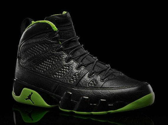 pick up 16cfb 39f71 Young Air Jordan IX Boys Shoe Black Neon Green   AIR JORDAN ...