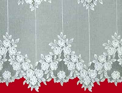 Floral Lace Curtain From Heritage This Is Tea Rose Pattern Up Close Dining Room
