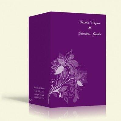 Einladung zur Hochzeit - Blumenmuster 1 - Hochformat
