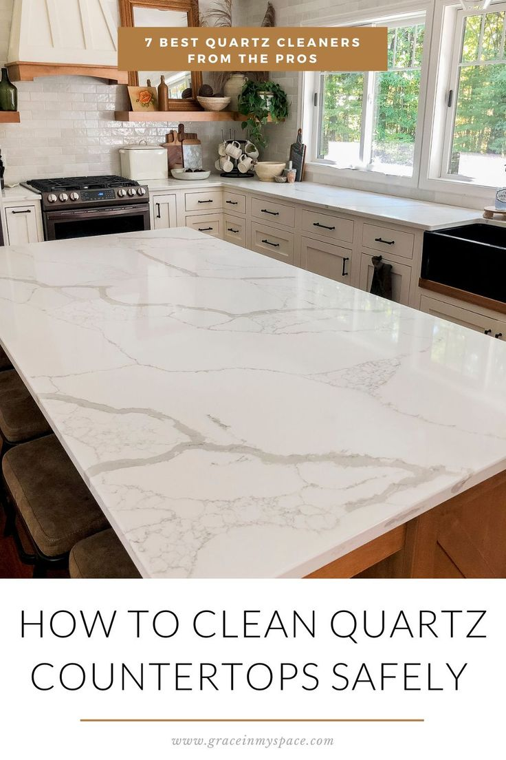 How To Clean Quartz Countertops Safely In 2020 Clean Quartz Countertops Countertops Quartz Countertops