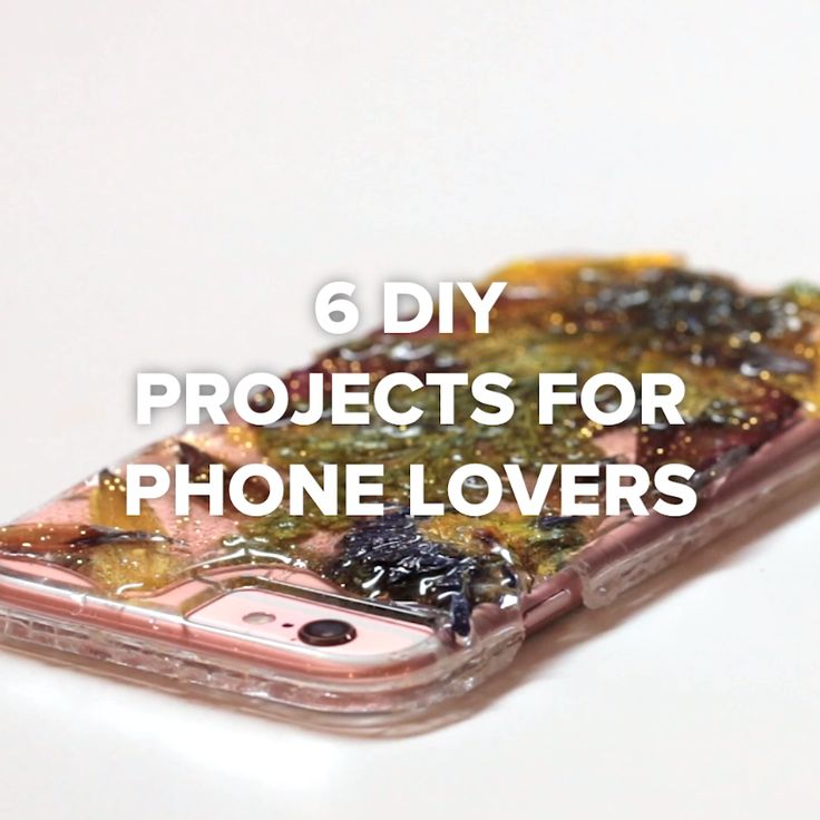 6 DIY Projects For Phone Lovers // #phone #cellphone #DIY
