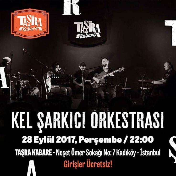 Perşembe gecelerinin vazgeçilmezi Kel Şarkıcı Orkestrası 70'lerden günümüze uzanan repertuarlarıyla bu akşam Taşra Kabare sahnesinde Girişler Ücretsiz Taşra'da buluşalım  #TaşradaBuluşalım #TaşraKabare #konser #müzik #music #kabare #cabaret #tiyatro #theatre #food #Kadıköy #canlımüzik #istanbul #ücretsiz #istanbul