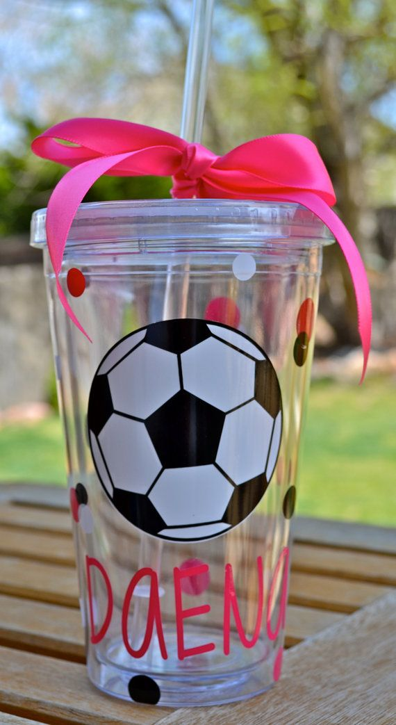 Personalized soccer Tumbler Boys Girls Soccer by TheeClosetCrafter