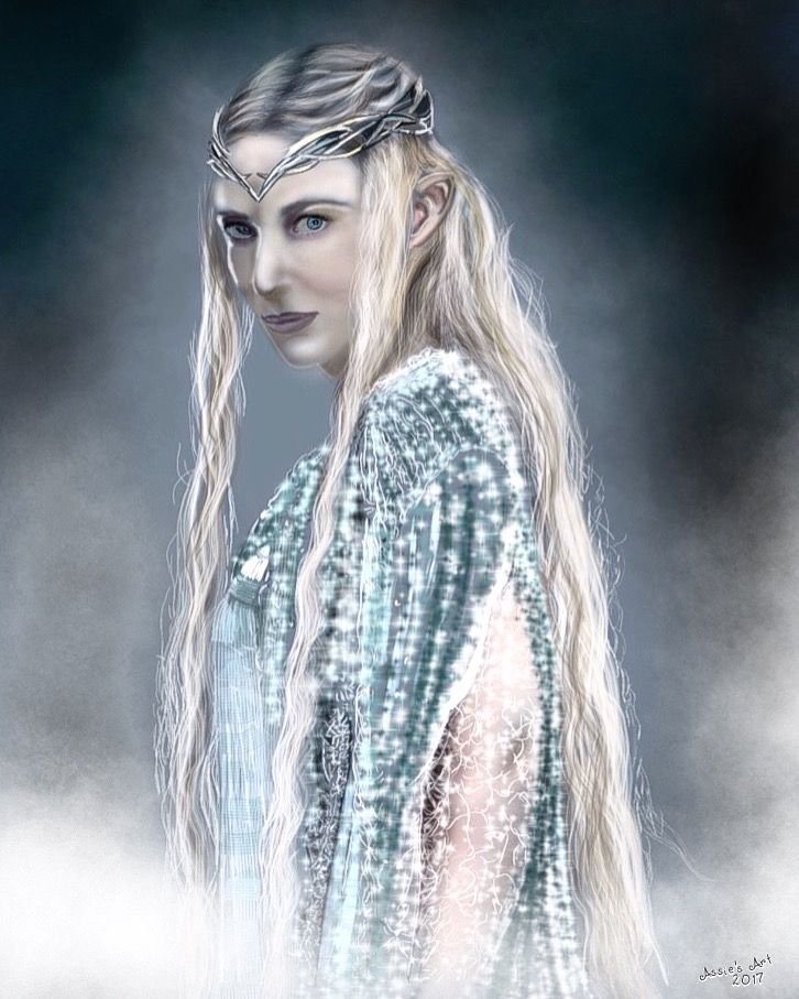 """Galadriel of """"the Lord of the Rings""""  Digital draw/painting by Assie's Art"""
