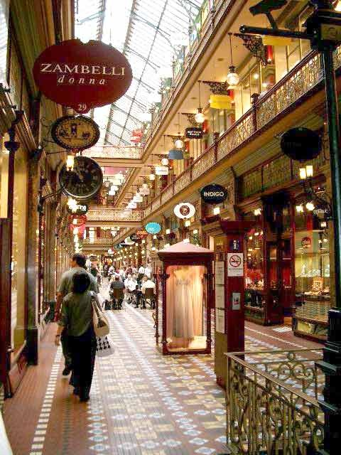 The Strand Arcade  - another beautiful and historic shopping gallery in Sydney. This arcade was completely gutted by fire in the 1970s but thankfully was faithfully restored. (Entrances at George St or the Pitt St Mall.)
