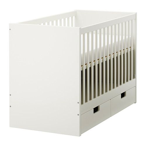 STUVA Cot with drawers IKEA The cot base can be placed at two different heights, and turns to toccler bed. 945aed