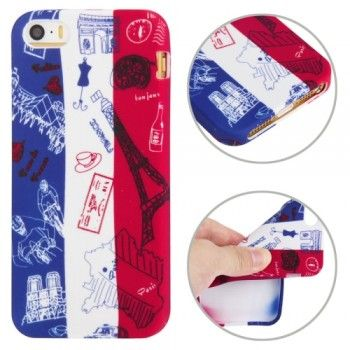 France Flag Pattern TPU iPhone 5 & 5S Case