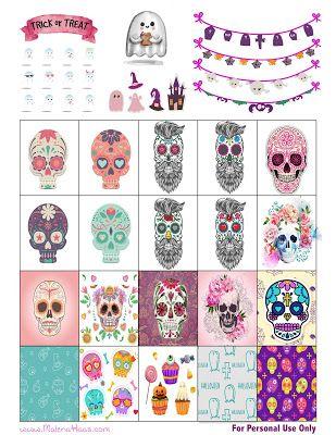 Malena Haas: ❤️FREEBIE Friday❤️ Halloween Sticker Printable