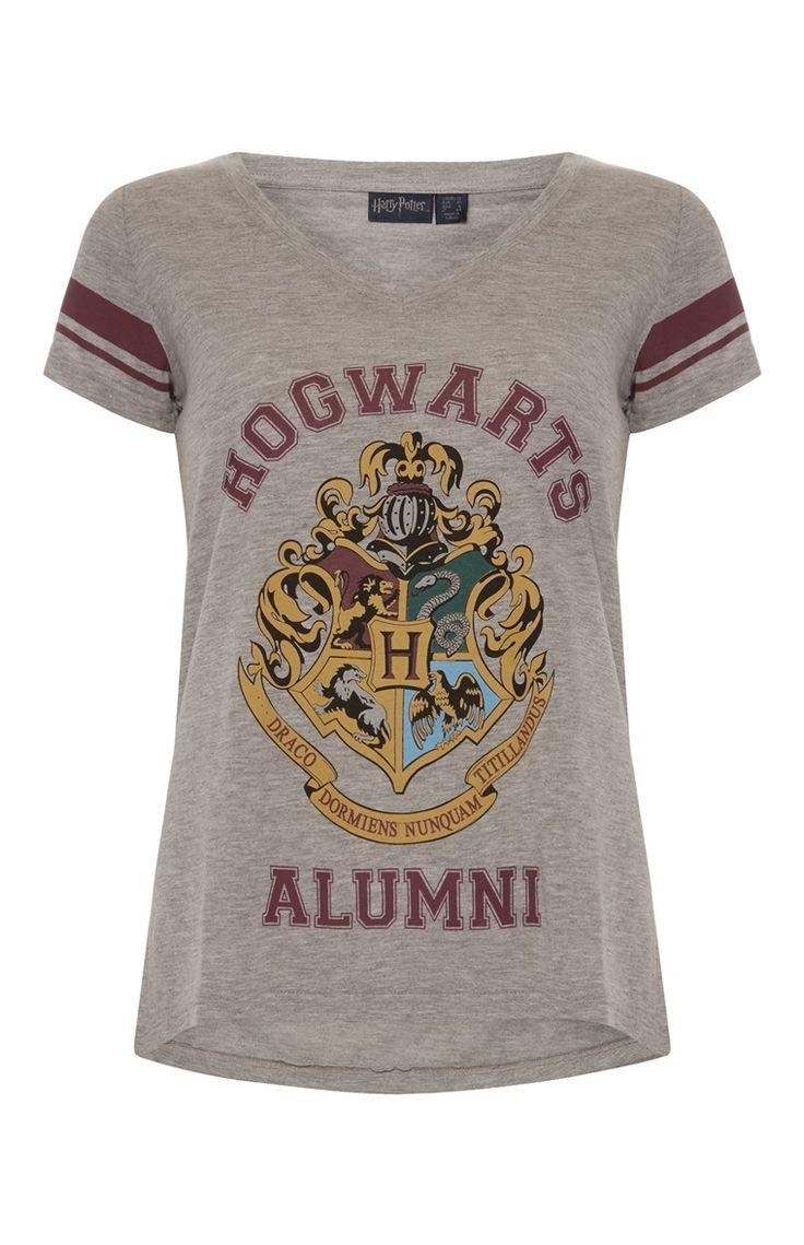 Primark - Grijs Harry Potter-shirt met V-hals