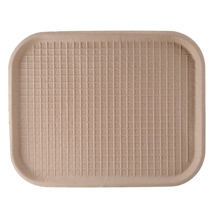 "Green Wave TW-TOO-041 9"" x 12"" Biodegradable Tray 250 / Case"