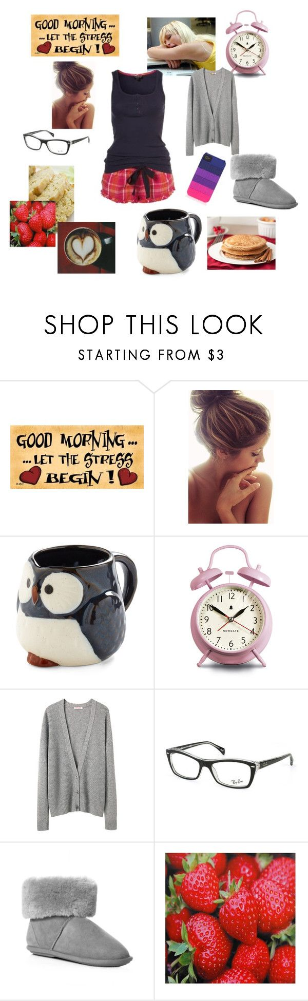 """""""Need Some Caffeine!!"""" by aellis1103 ❤ liked on Polyvore featuring WALL, Paris Hilton, Chicas Fashion, Newgate, Organic by John Patrick, Ray-Ban, Just Sheepskin and Juicy Couture"""