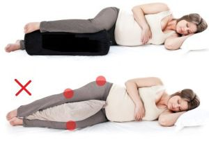 Sleep position for pregnancy. Why didn't unknown this sooner to save my back and hips?!