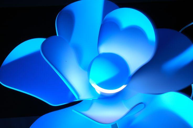 "Lamp Fleur ""Blue Mood"" by Bloomboom® / Design François-Marie GERARD & Irma BIRKA / Photo : Jan-Cornel EDER www.bloomboom.fr"