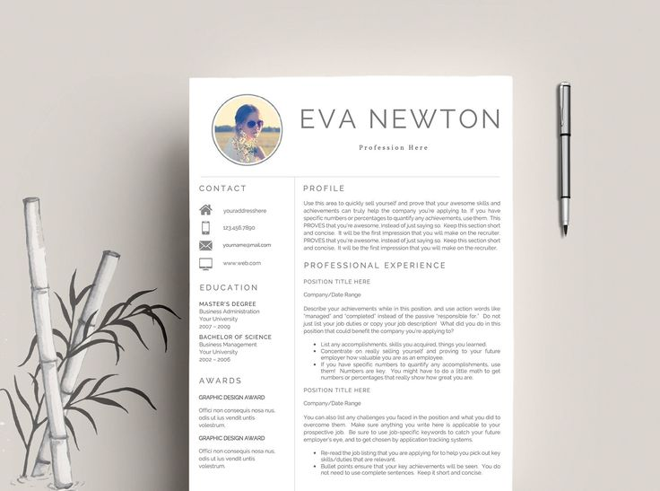 25 best Resume Template + Cover Letter | Professional & Modern ...