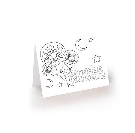 Ramadan worksheets and printables ramadan card colouring for Ramadan coloring pages