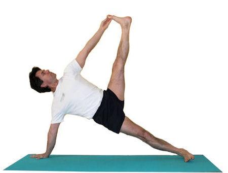 Vasisthasana yoga asana.  Dedicated to the Vasistha sage