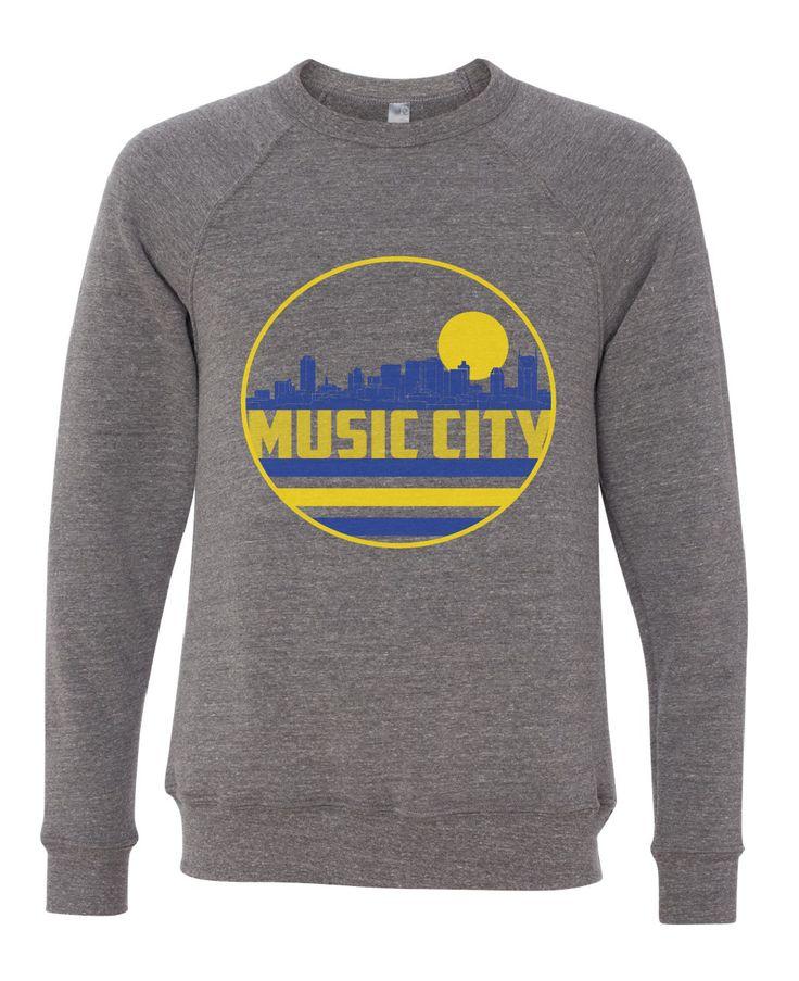Nashville Music City Skyline Raglan Sweatshirt
