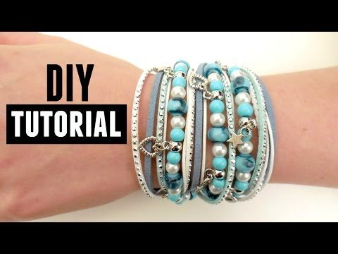 How to Make a Wrap Bracelet - DIY Jewelry making - YouTube