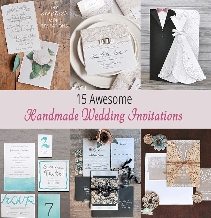 15 Awesome Handmade Wedding Invitations httpdiy gallerycom