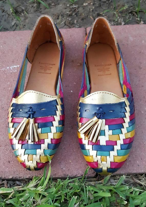 Sandalias Huaraches artesanales para dama.