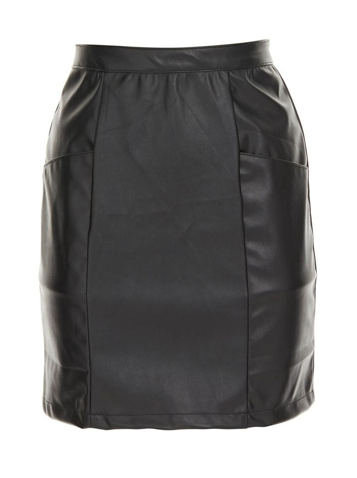 Pencil skirt with front pockets